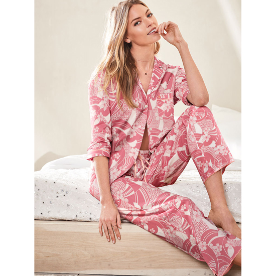 VICTORIA'S SECRET Rosy Mauve Floral NEW! The Mayfair Pajama Outlet Online