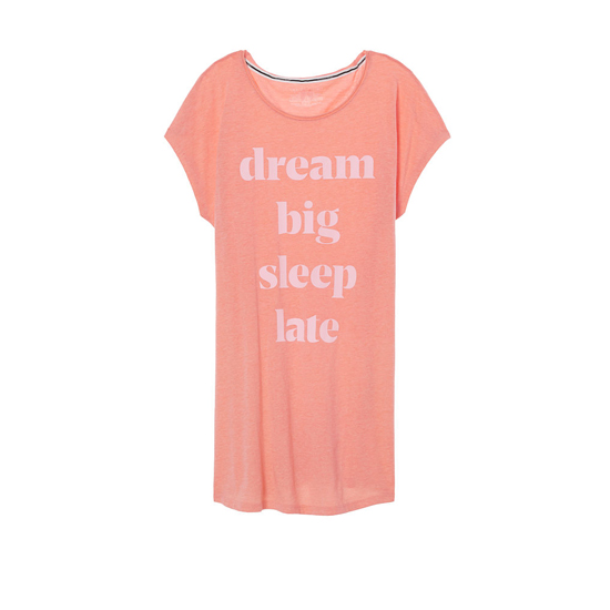 VICTORIA'S SECRET Lip Smacker/Dream Big Graphic NEW! Angel Sleep Tee Outlet Online