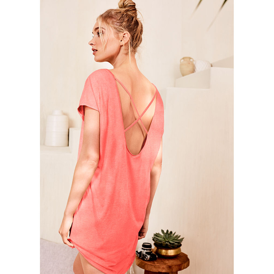 VICTORIA'S SECRET Tropical Coral NEW! The Crossback Angel Sleep Tee Outlet Online