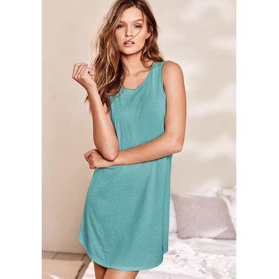 VICTORIA\'S SECRET Cozumel Teal NEW! Open-back Slip Outlet Online