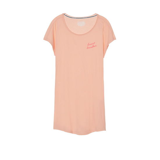 VICTORIA\'S SECRET Peach Melba/Heart Breaker Graphic NEW! Angel Sleep Tee Outlet Online
