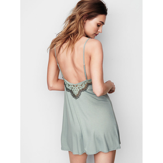 VICTORIA\'S SECRET Silver Sea NEW! Supersoft Low-back Slip Outlet Online