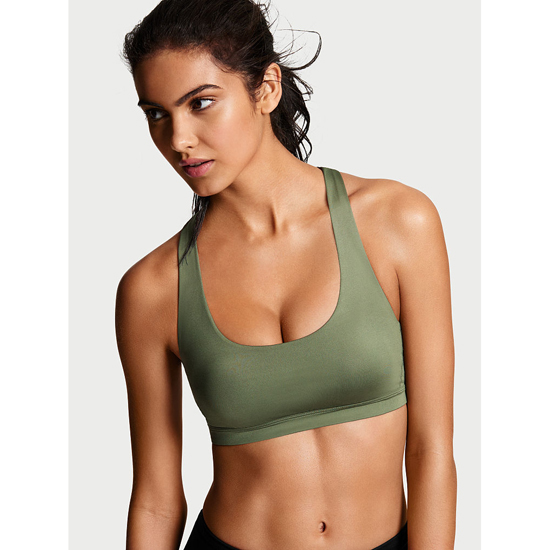 VICTORIA\'S SECRET Black/White Confetti NEW! Crossback Sport Bra Outlet Online