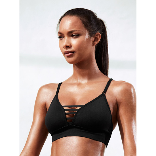 VICTORIA'S SECRET Black NEW! Triangle Seamless Sport Bra Outlet Online