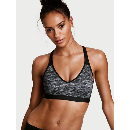 VICTORIA'S SECRET Coed Marl NEW! The Player Plunge Sport Bra Outlet Online