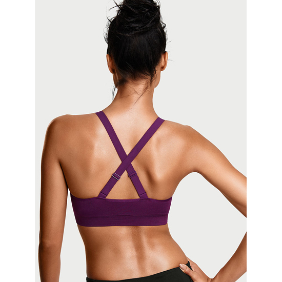 VICTORIA\'S SECRET Grape Soda NEW! Strappy-front Seamless Sport Bra Outlet Online