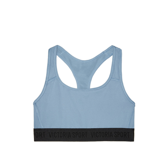 VICTORIA'S SECRET Faded Denim NEW! The Player by Victoria Sport Racerback Sport Bra Outlet Online