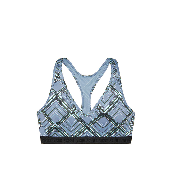 VICTORIA\'S SECRET Grey Traced Chevron NEW! The Player Plunge Sport Bra Outlet Online