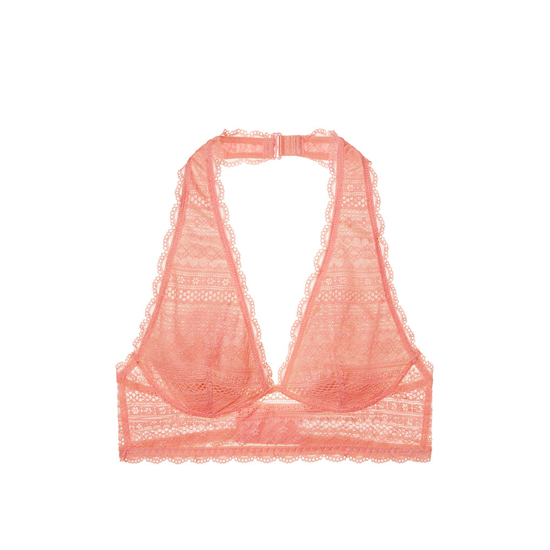 VICTORIA\'S SECRET Lipsmacker Long Line Halter Bralette Outlet Online