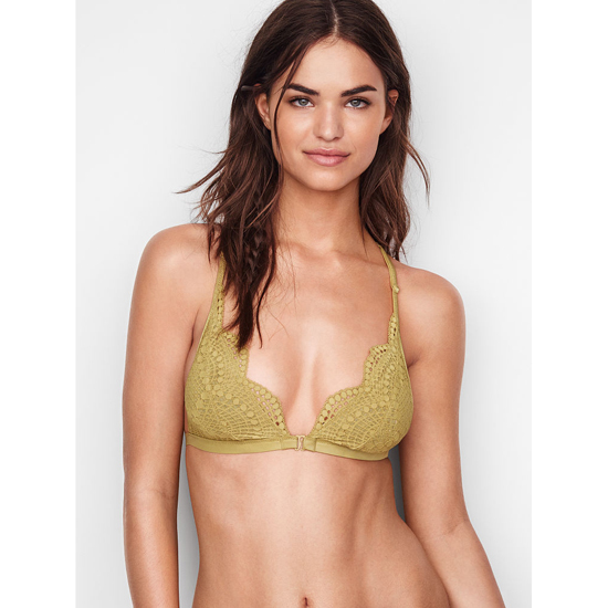 VICTORIA'S SECRET Incan Gold Strappy Back NEW! Strappy-back Triangle Bralette Outlet Online