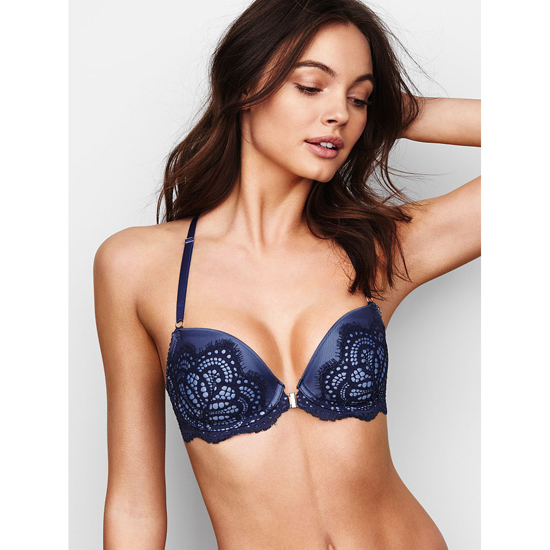 VICTORIA'S SECRET Ensign Solid Lace Demi Bra Outlet Online