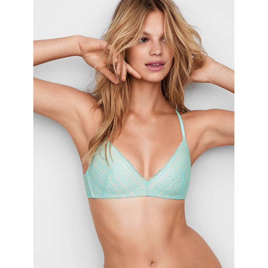 VICTORIA'S SECRET Aqua Splash Lace Lightly Lined Wireless Bra Outlet Online