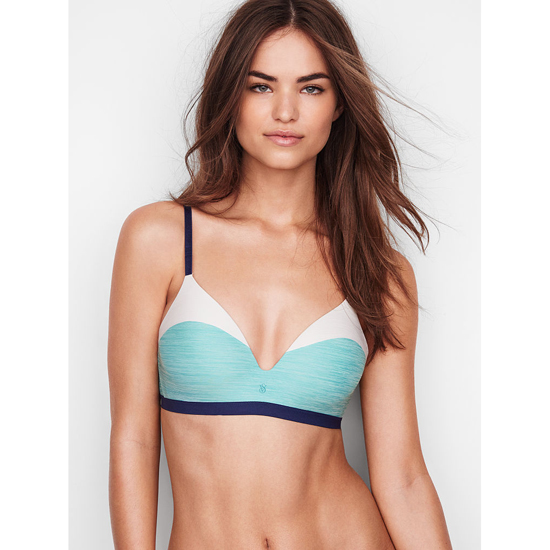 VICTORIA'S SECRET Cozumel Teal Colorblock NEW! Wireless Bra Outlet Online