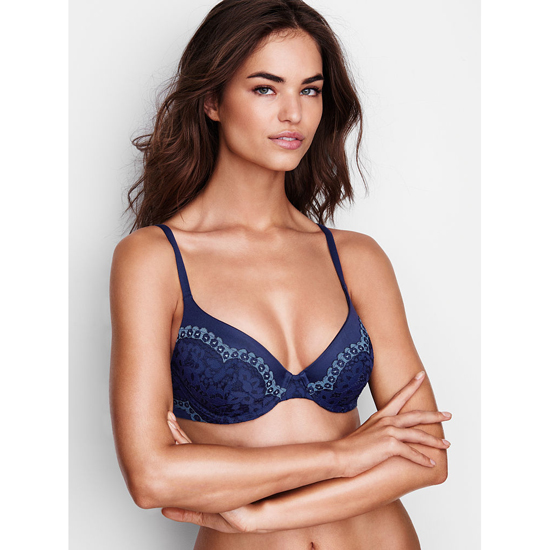 Discount VICTORIA'S SECRET Ensign With Faded Denim Crossdye NEW! Perfect Coverage Bra Online