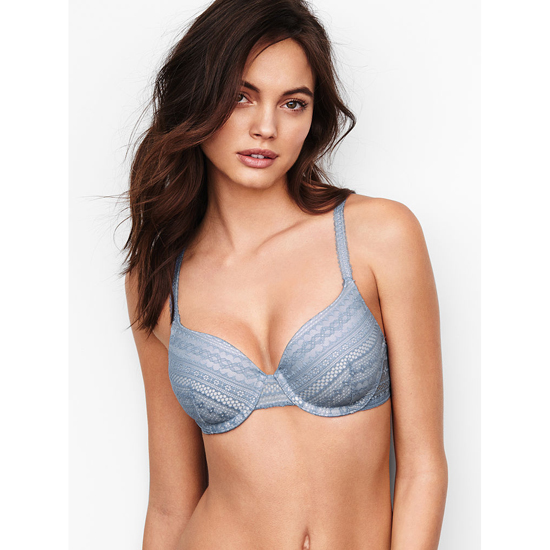 VICTORIA'S SECRET Faded Denim Lace NEW! Perfect Coverage Bra Outlet Online