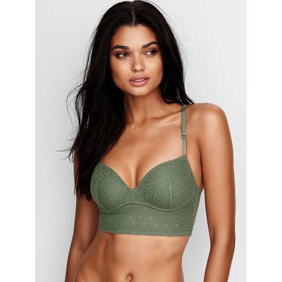 VICTORIA'S SECRET Cadette Green Lace NEW! Easy Push-Up Bra Outlet Online