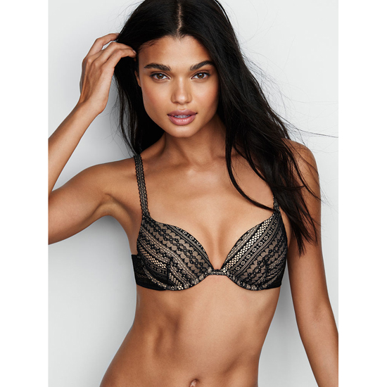 VICTORIA'S SECRET Black Lace Push-Up Bra Outlet Online