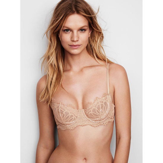 VICTORIA'S SECRET Sugar Cookie NEW! The Unlined Uplift Bra Outlet Online