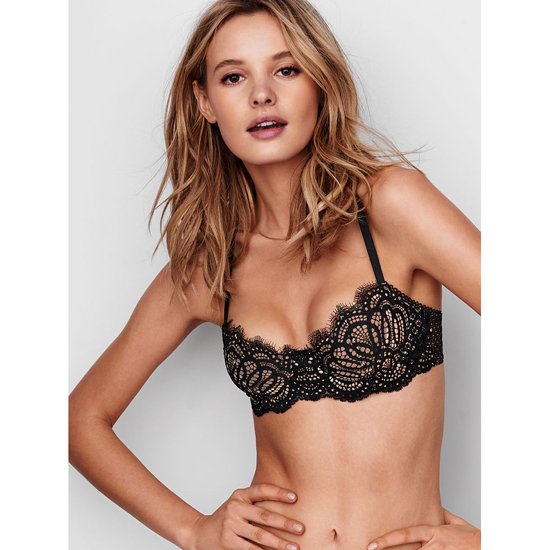 VICTORIA'S SECRET Black Lace The Unlined Uplift Bra Outlet Online