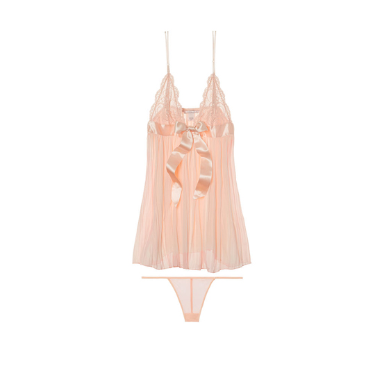 VICTORIA'S SECRET Pinky Cheeks NEW! Pleated Babydoll Outlet Online