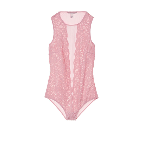 VICTORIA'S SECRET Winter Rose NEW! Lace & Mesh Bodysuit Outlet Online
