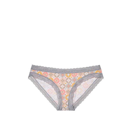 VICTORIA\'S SECRET Retro Diamond Print Lace Trim NEW! Bikini Panty Outlet Online