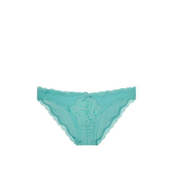 VICTORIA\'S SECRET Cozumel Teal NEW! Crochet Lace Cheekini Panty Outlet Online