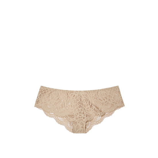 VICTORIA'S SECRET Sugar Cookie NEW! Crochet Lace Cheekster Panty Outlet Online