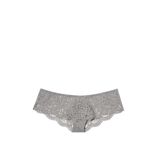 VICTORIA'S SECRET Sterling Pewter NEW! Crochet Lace Cheekster Panty Outlet Online