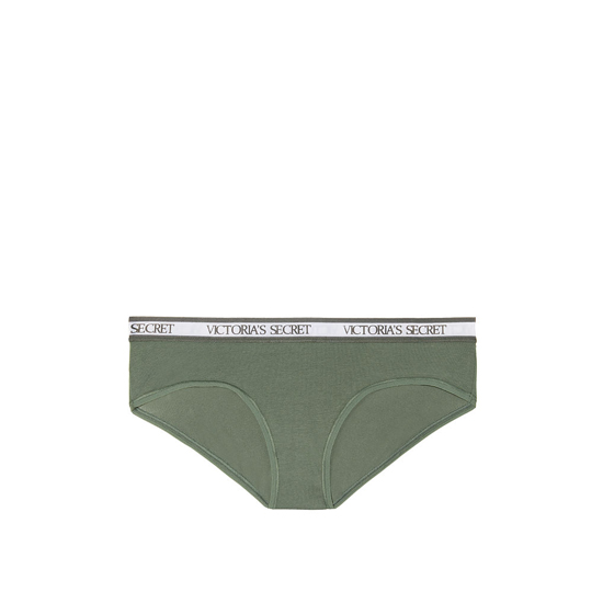 VICTORIA'S SECRET Cadette Green NEW! Logo-waist Hiphugger Panty Outlet Online