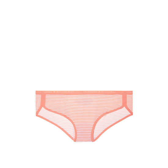 VICTORIA'S SECRET Lip Smacker Peach Stripe NEW! Curved-hem Hiphugger Panty Outlet Online