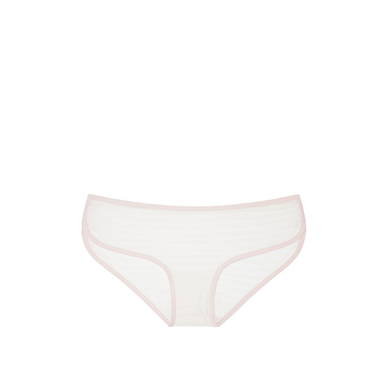 VICTORIA'S SECRET Coconut White Shadow Stripe NEW! Marl Hipster Panty Outlet Online