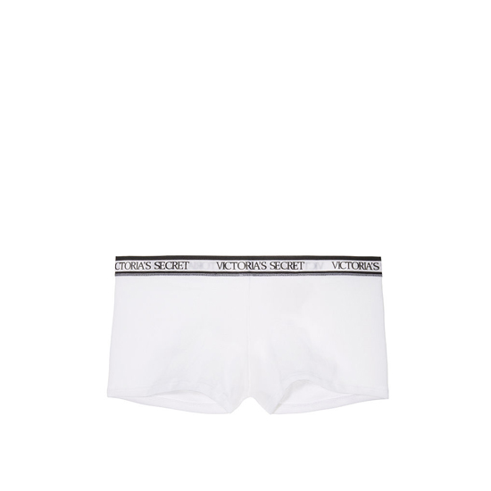 VICTORIA'S SECRET White NEW! Logo-waist Shortie Panty Outlet Online