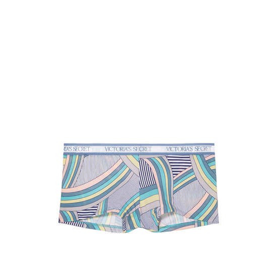 VICTORIA'S SECRET Indigo Curved Stripe NEW! Logo-waist Shortie Panty Outlet Online
