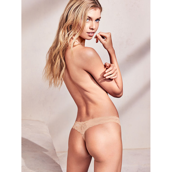 VICTORIA'S SECRET White Lace-Trim Thong Panty Outlet Online