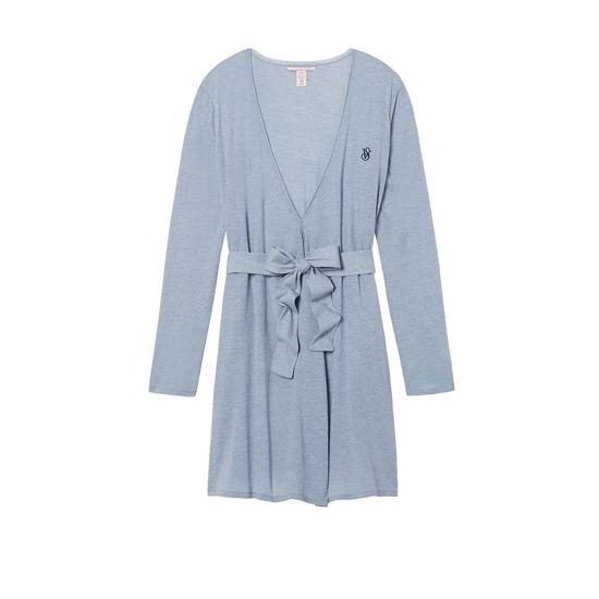 VICTORIA'S SECRET Faded Denim NEW! Sleepover Knit Robe Outlet Online