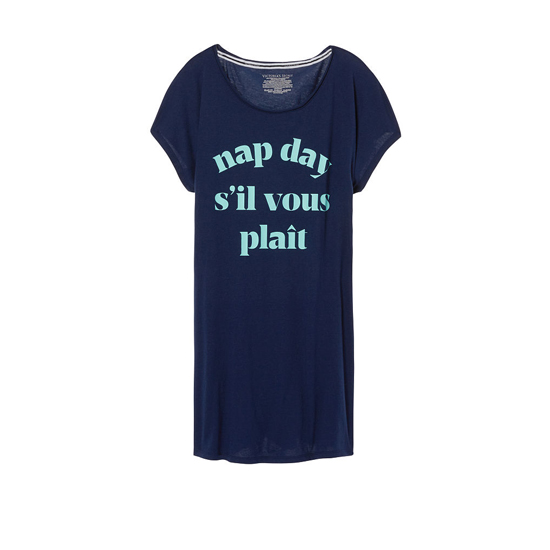 VICTORIA'S SECRET Ensign/Nap Day Graphic NEW! Angel Sleep Tee Outlet Online