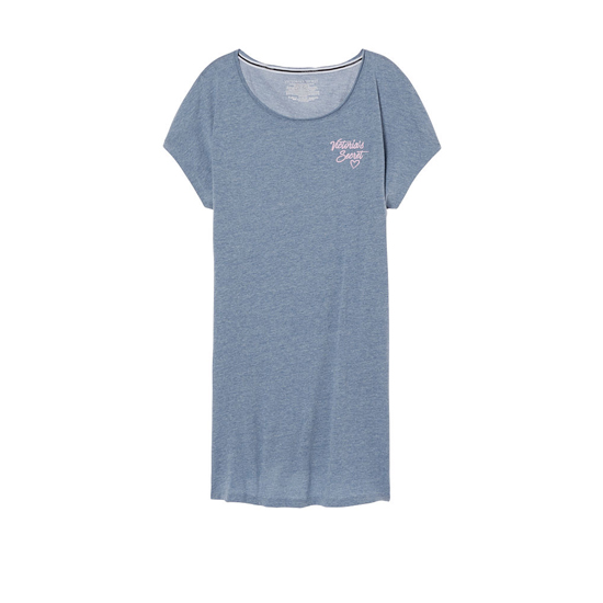 VICTORIA\'S SECRET Faded Denim/VS Heart Graphic NEW! Angel Sleep Tee Outlet Online
