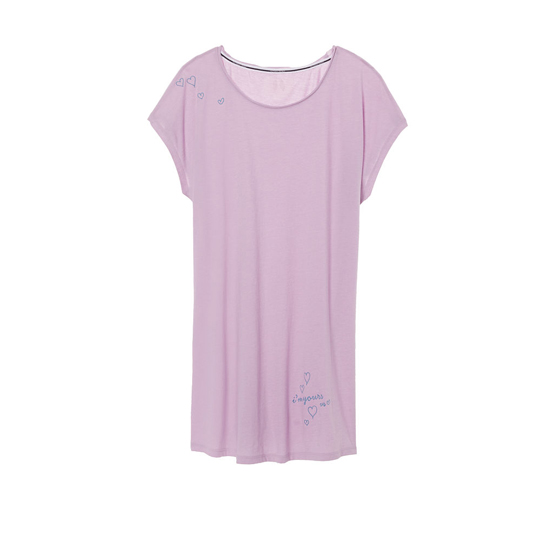 VICTORIA'S SECRET Fair Orchid/Yours Graphic NEW! Angel Sleep Tee Outlet Online