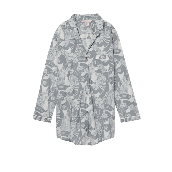 VICTORIA'S SECRET Grey Floral NEW! The Mayfair Sleepshirt Outlet Online