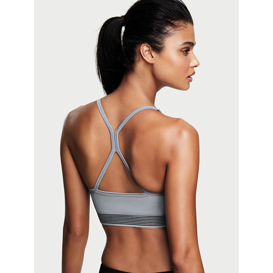VICTORIA'S SECRET Grey Oasis Seamless Sport Bra Outlet Online